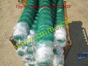 сетка рабица в пвх зеленая